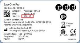 EasyOne Pro® example serialnumber